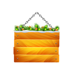 christmas wooden sign on chain isolated vector image vector image