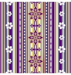 Colorful vintage striped seamless pattern vector image vector image