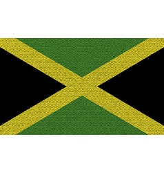Flags Jamaica on denim texture vector image