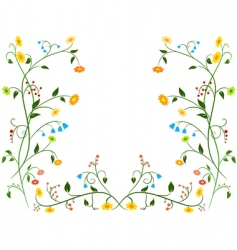 floral flower ornament vector image vector image