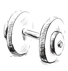 Gum weight dumbbell cartoon icon vector image vector image