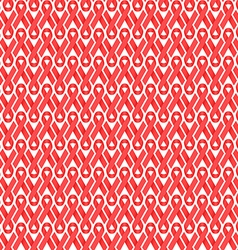Seamless red ribbon AIDS HIV awareness background vector image vector image