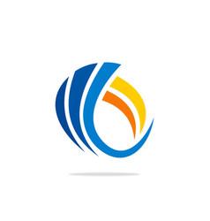 swirl abstract logo vector image