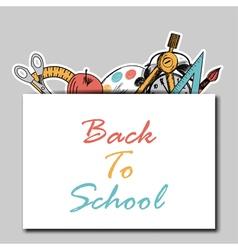 Back school vector image