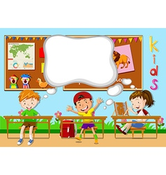 Children learning in the classroom vector image