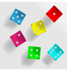 Colorful dice vector image