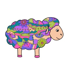 Colorful sheep vector image vector image