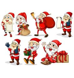 Happy Santas vector image