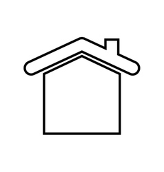 House real estate symbol vector image