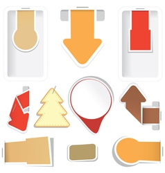 sticker arrow tags collection vector image vector image