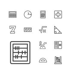 13 math icons vector