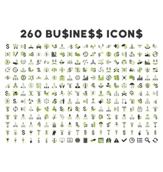 260 Flat Business Icons vector image