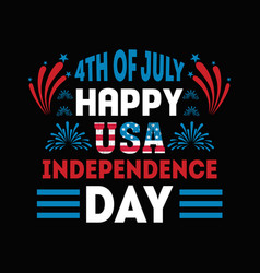 4th july happy usa independence day vector