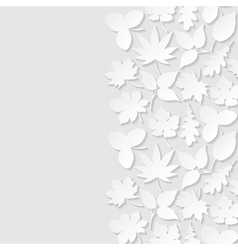 Abstract background with paper leaves vector