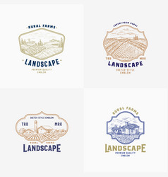 Abstract rural farm signs badges or logo vector