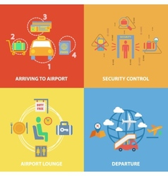 Airport icon flat composition vector