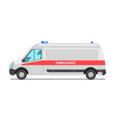 ambulance car emergency medical van vector image