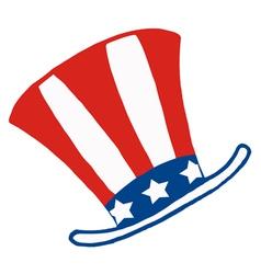American patriotic hat vector