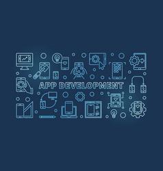 app development blue concept outline vector image