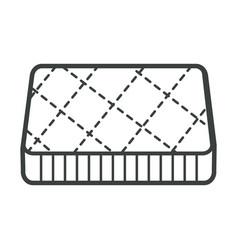 Bedroom furniture orthopedic mattress bedding vector
