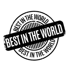 Best In The World rubber stamp vector
