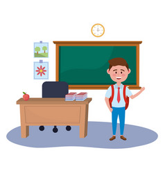 Boy kid school design vector