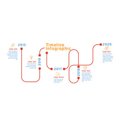 business timeline workflow color infographics vector image