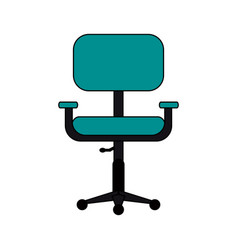 chair office flat vector image