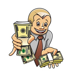 cheerful businessman vector image