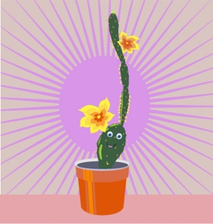 cheerful cactus vector image