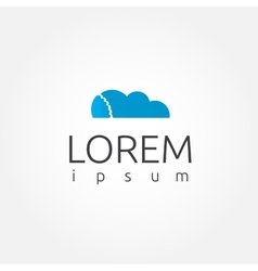 Cloud computing logo template vector