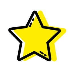 Color star shining in the sky decoration design vector
