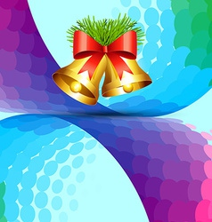 colorful christmas design vector image