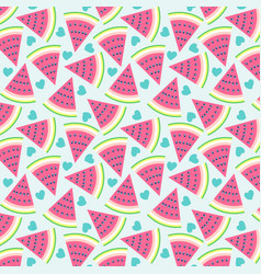 cute watermelon baby seamless pattern vector image