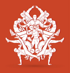 Dancing group dancer practice street dance vector