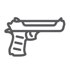 Desert eagle gun line icon army and weapon vector