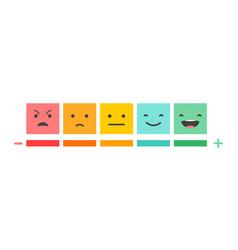 Emoticons scale satisfaction survey vector