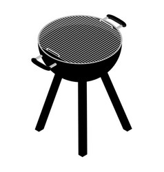Empty barbecue grill vector