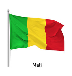 Flag republic mali vector