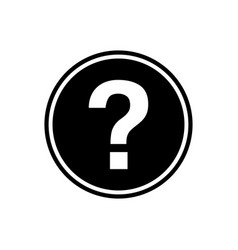 flat icon of question mark vector image