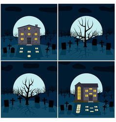 four for halloween vector image