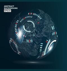 Futuristic globalization interface modern earth vector