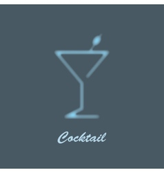 glass martini vector image