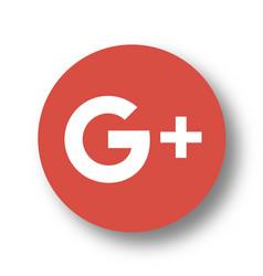 Google plus logo icon vector