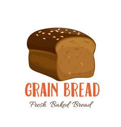 Grain bread icon vector