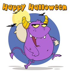 Halloween monster cartoon vector image