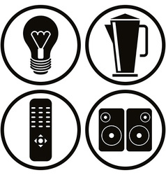 Household appliances icons set 2 vector