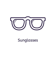 icon of sunglasses on a white background vector image