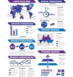 INFOGRAPHIC DEMOGRAPHIC ELEMENTS NEW PURPLE vector image