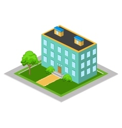 Isometric big house vector